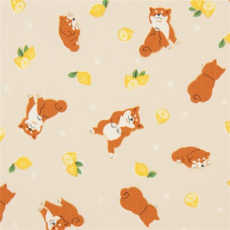 Fabric  Cool Animals  Dogs and Crowns  Kokka
