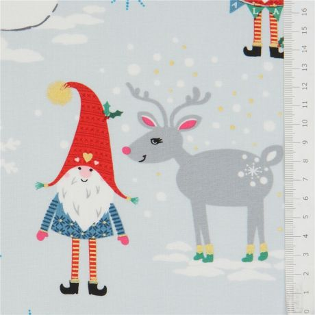 Michael Miller Christmas Fabric Cane Toss Red fabric 1//4m FQ