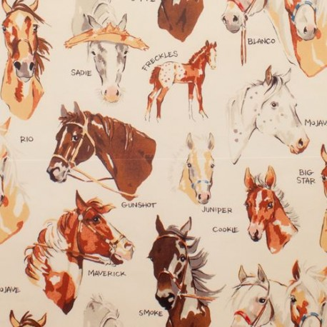 Henry Stoff beiger henry stoff pferd tier stable mates kawaii fabric