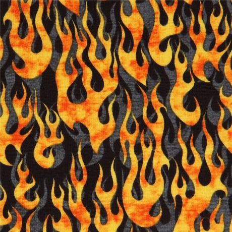black fabric with flame fire Quilting Treasures - Kawaii Fabric Shop : quilting treasures - Adamdwight.com