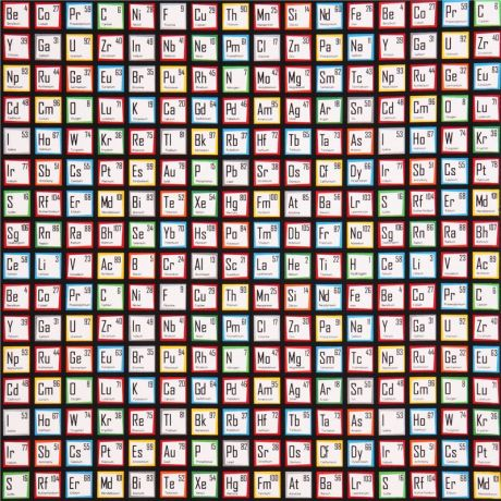 black periodic table fabric robert kaufman science fair - Periodic Table Fabric