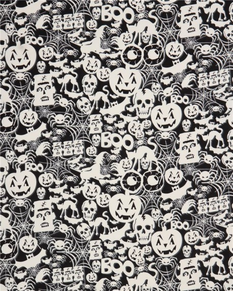 Spiderwebs Timeless Treasures Fabric Glow in the Dark Multiple Sizes