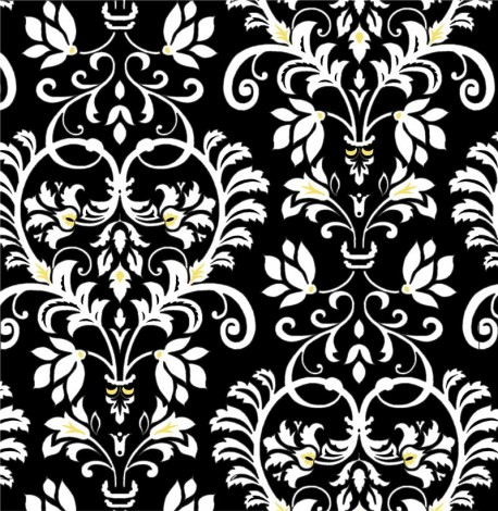 Black white yellow flower leaf pattern fabric by henry glass black white yellow flower leaf pattern fabric by henry glass mightylinksfo