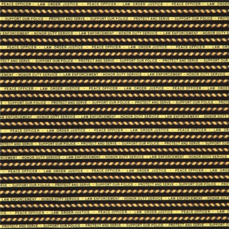 black yellow fabric with police tape stripe Quilting Treasures ...