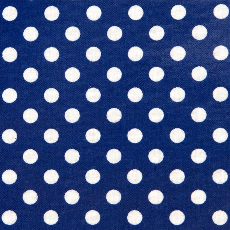 blue polka dot laminate fabric by Cosmo from Japan - Kawaii Fabric Shop