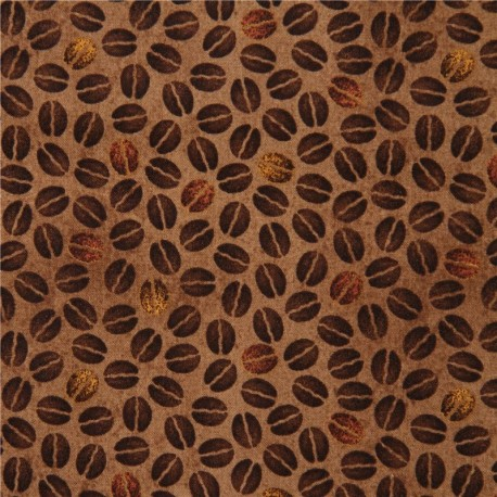 brown coffee bean fabric Quilting Treasures 'Daily Grind' - Kawaii ... : quilting treasures - Adamdwight.com