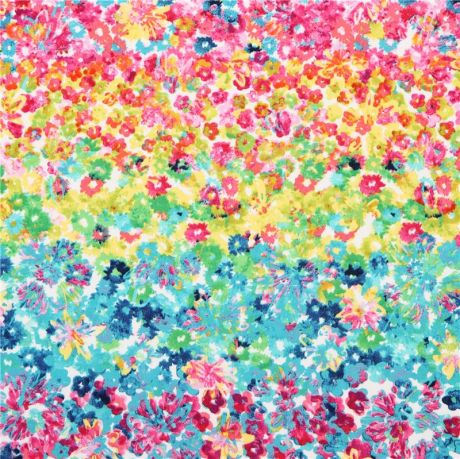 Colorful Flower Fields Flower Bed Flower Fabric Michael Miller