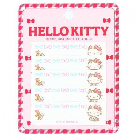 ff3b77dd8 cute Hello Kitty bow name tag iron-on transfer patch 5 pieces ...