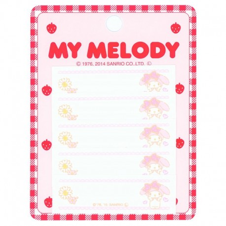 12ea1e997 cute My Melody flower name tag iron-on transfer patch 5 pieces ...