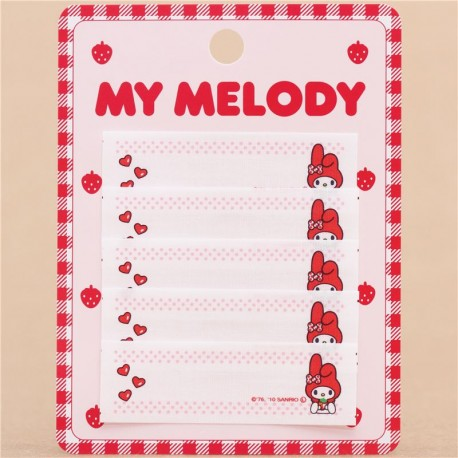 821084fad cute My Melody name tag iron-on transfer patch 5 pieces - Kawaii ...