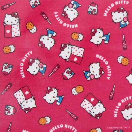 dark pink hello kitty sweet food sanrio laminate fabric from japan