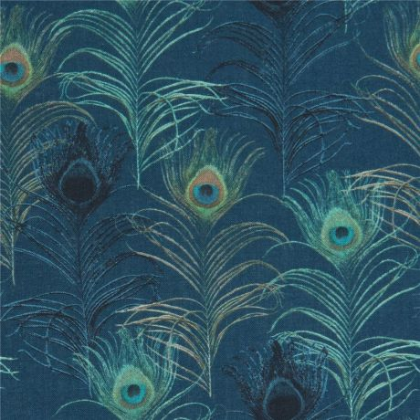 Timeless Treasures-Tossed Peacock Feathers 100/% cotton Fabric Patchwork Quilting
