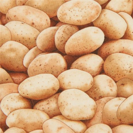 Light Brown Potato Elizabeth S Studio Food Fabric Kawaii Fabric Shop