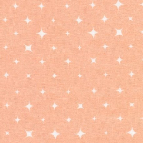 Light Pink With White Star Cloud 9 Organic Cotton Fabric We Are All Stars