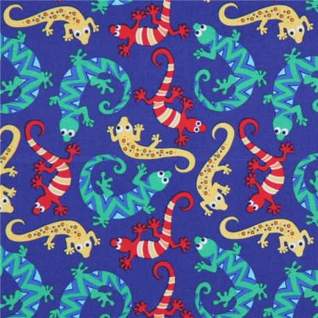 More 100/% Cotton Scaly Green Lizards Michael Miller Fabric FQ