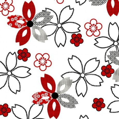 Off white black dot red flower fabric by studioe essentials 10 off white black dot red flower fabric by studioe essentials mightylinksfo
