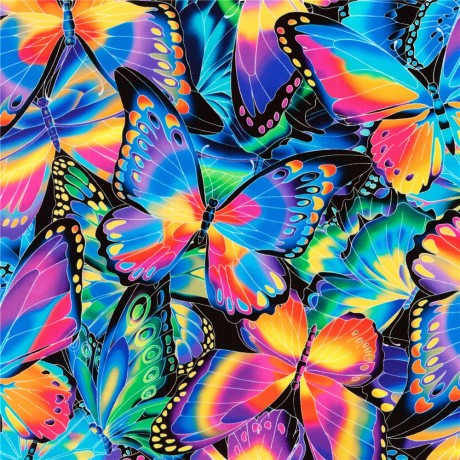 1 yard Packed Butterflies Fabric