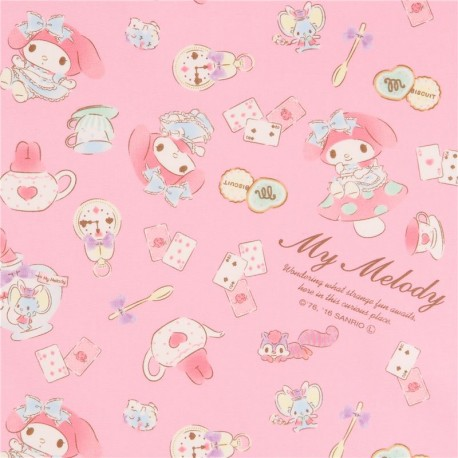 Pink My Melody Rabbit Teapot Playing Card Biscuit Oxford Fabric