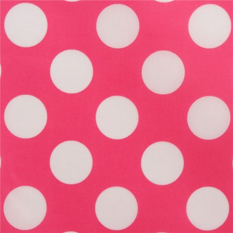 pink with cute white dot spot laminate fabric from Japan - Kawaii Fabric  Shop