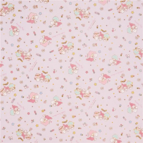 Purple Little Twin Stars My Melody Star Sanrio Oxford Fabric