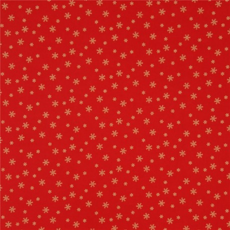 Christmas Red.Red Christmas Fabric From Japan With Metallic Gold Snowflakes Kawaii Fabric Shop