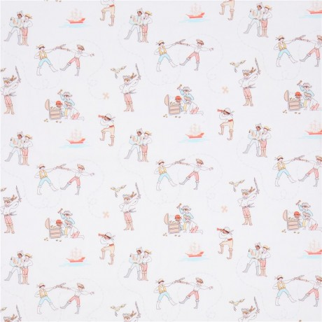 White michael miller fabric children a pirates life for Kids pirate fabric