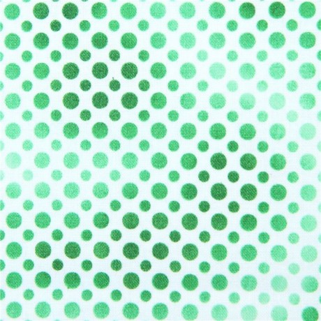 white fabric cute green light green and dark green dot Quilting ...