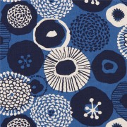 Canvas Cobalt Blue Geometric by Amy Van Luijk Surface Figo Fabrics Heavyweight Sewing Fabric Tote Bag Fabric Cotton and Linen Blend Japanese